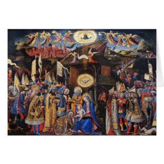 Tillbedjan av Magi - Antonio Vivarini Hälsningskort