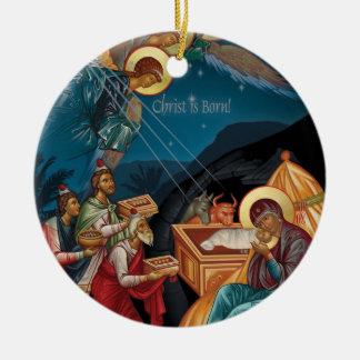 Tillbedjan av Magijulprydnaden Julgransprydnad Keramik
