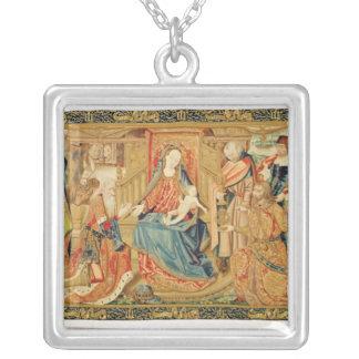 Tillbedjan av magina, 15th-16th århundrade silverpläterat halsband
