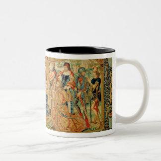 Tillbedjan av magina, 15th-16th århundrade Två-Tonad mugg