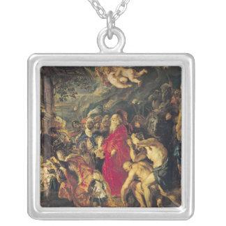 Tillbedjan av magina, 1610 silverpläterat halsband