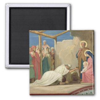 Tillbedjan av magina, 1857 magnet