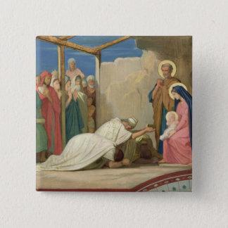 Tillbedjan av magina, 1857 standard kanpp fyrkantig 5.1 cm