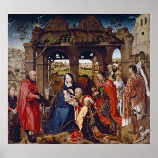 Tillbedjan av magina, c.1455 poster