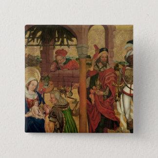 Tillbedjan av magina, c.1475 standard kanpp fyrkantig 5.1 cm