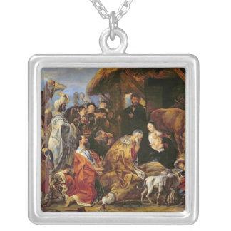 Tillbedjan av magina silverpläterat halsband