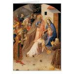Tillbedjan av magina vid Fra Angelico 1423 Hälsningskort