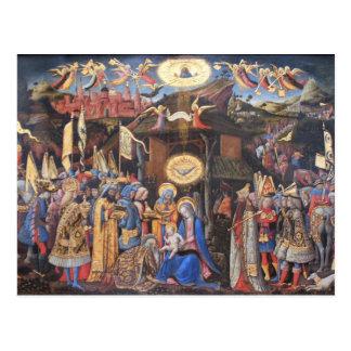 Tillbedjan av magina vykort