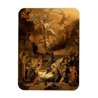 Tillbedjan av shepherdskonstjulen magnet