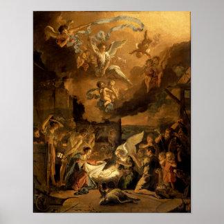 Tillbedjan av shepherdskonstjulen poster