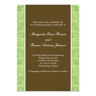Tillfällig bröllopinbjudan 12,7 x 17,8 cm inbjudningskort