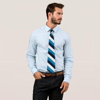 Tillfällig rand för vit för randblåttsvart slips