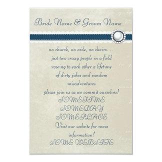 Tillfälligt bröllop 8,9 x 12,7 cm inbjudningskort