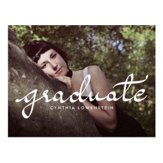 Tillfälligt foto för typografi för chicstudentvit vykort