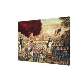 Tillfångatagandet av Atlanta av den fackliga armén Canvastryck