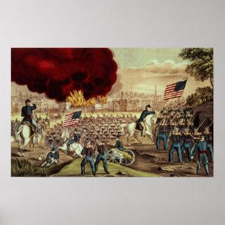 Tillfångatagandet av Atlanta av den fackliga armén Poster