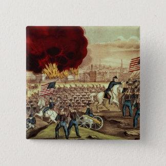 Tillfångatagandet av Atlanta av den fackliga armén Standard Kanpp Fyrkantig 5.1 Cm