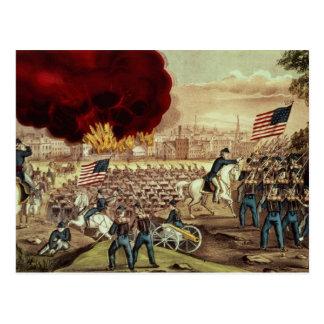 Tillfångatagandet av Atlanta av den fackliga armén Vykort