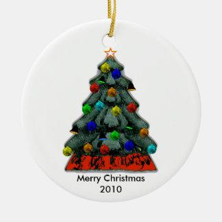 Tillfoga babybilden - baby första jul rund julgransprydnad i keramik