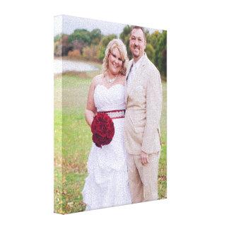Tillfoga bröllopfotoet eller annan 's slågen in canvastryck