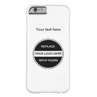 Tillfoga din affärslogotyp barely there iPhone 6 skal