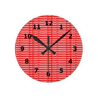Tillfoga din affärslogotyp rund klocka