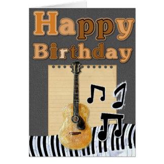 Tillfoga din egna text: Musikalisk födelsedag Hälsningskort