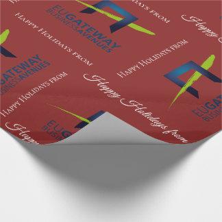 Tillfoga din röda helgdag för affärslogotypen presentpapper