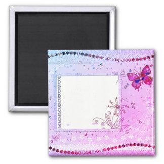 Tillfoga din textrosa- och lilamagnet magnet