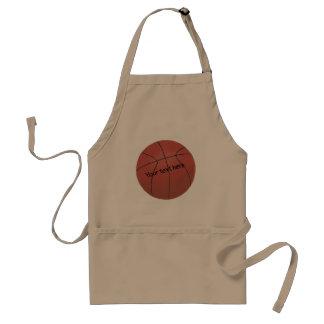 Tillfoga dina basketförkläden för text här förkläde
