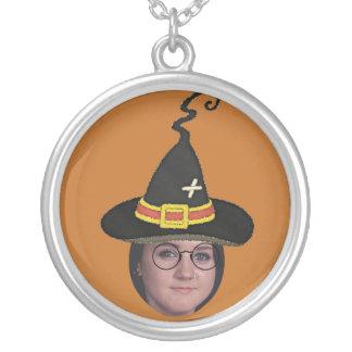 Tillfoga ditt foto till trollkarlar hatt & silverpläterat halsband