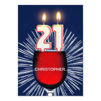Tillfoga ett namn, den 21st födelsedagsfest 12,7 x 17,8 cm inbjudningskort