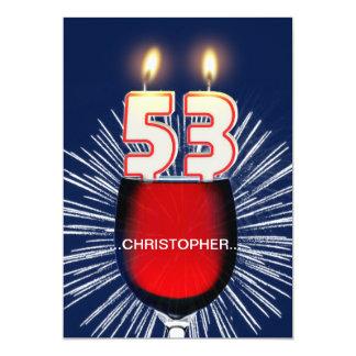 Tillfoga ett namn, den 53rd födelsedagsfest 12,7 x 17,8 cm inbjudningskort