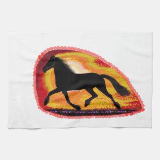 Tillfogar det älsklings- djur för hästen färg för kökshandduk