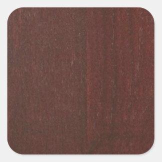 Tillfogar det Wood fullföljandeKÖP tomma Blanche Fyrkantigt Klistermärke