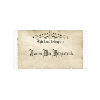 Tillfogar gammal Parchment för vintagestil din Adressetikett