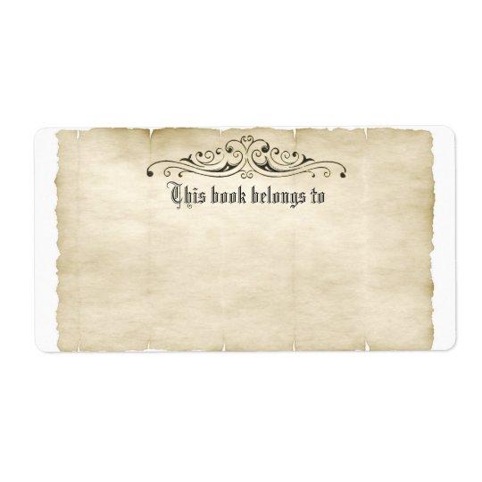 Tillfogar gammal Parchment för vintagestil din Fraktsedel