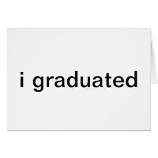 tillkännagivande för studenten hälsnings kort