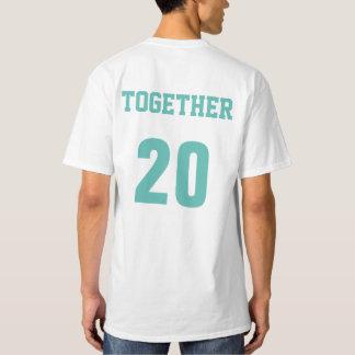 Tillsammans efter år kopplar ihop årsdagT-tröja T-shirts