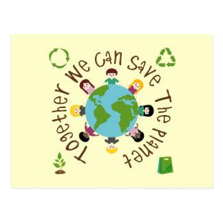 Tillsammans kan vi räddade planeten vykort