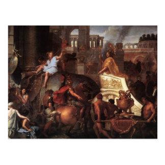 Tillträde av Alexander in i Babylon Vykort