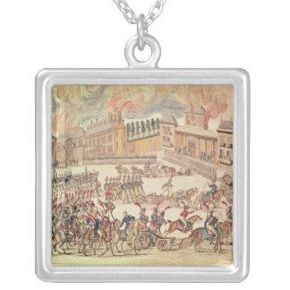 Tillträde av den befallde franska armén silverpläterat halsband