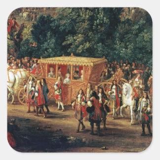 Tillträde av Louis XIV och Maria Theresa in i Fyrkantigt Klistermärke