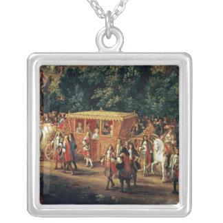 Tillträde av Louis XIV och Maria Theresa in i Silverpläterat Halsband