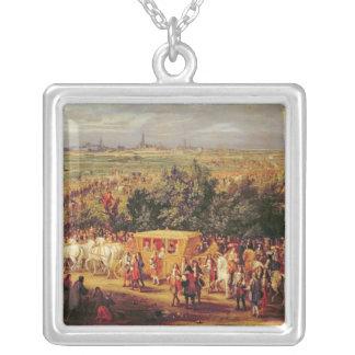 Tillträde av Louis XIV och Marie-Therese av Silverpläterat Halsband