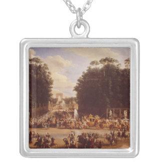 Tillträdeet av Napoleon och Marie-Louise Silverpläterat Halsband