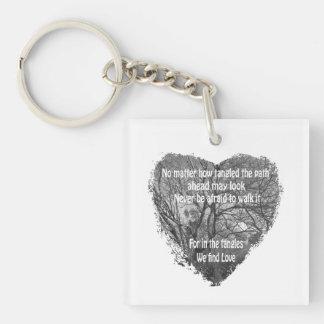 Tilltrasslad hjärtnyckelring