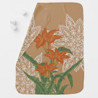 TILLVÄXT - orange lilja Bebisfilt