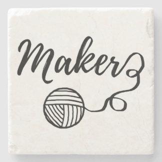Tillverkare •, Garn- & hantverktypografi Underlägg Sten