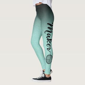 Tillverkare •, Svart & för MintOmbre struktur garn Leggings